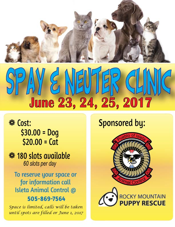 POI Animal Control 2017 Spay & Neuter Clinic