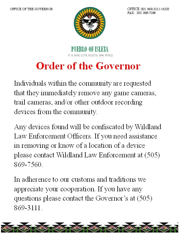 By Order of the Governor Game Cameras