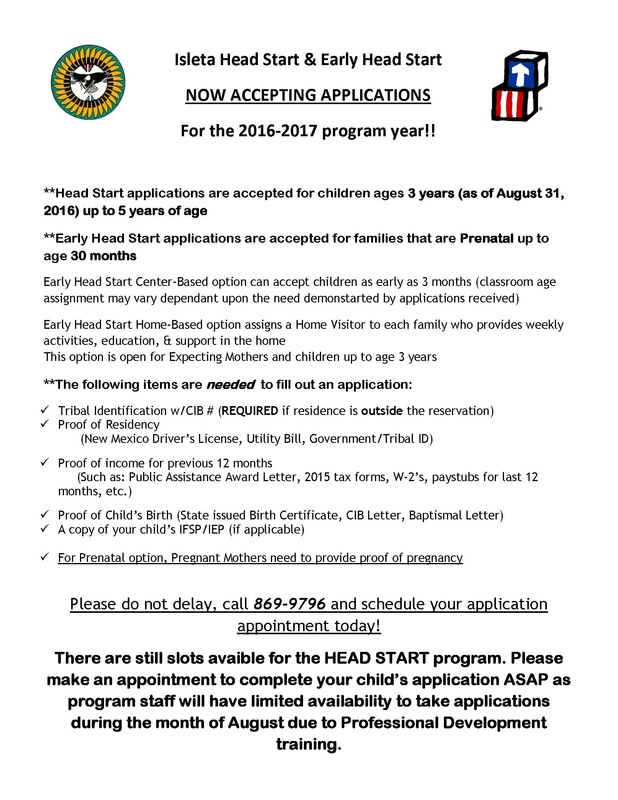 Picture Head Start program accepting applications for 2016-2017 year