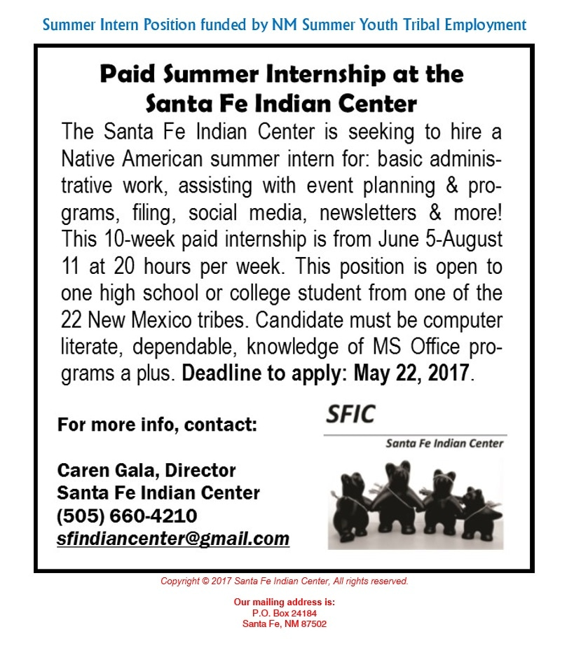 External Internship Opportunity.