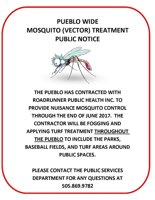 Mosquito Management Public Notice