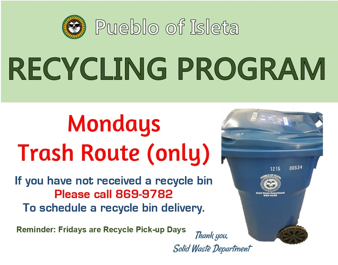 Recycling Program flyer