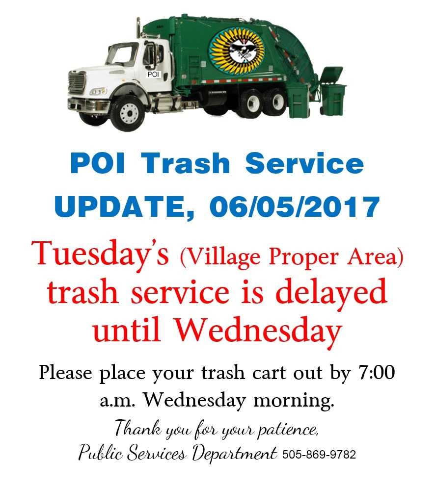 Trash service notice