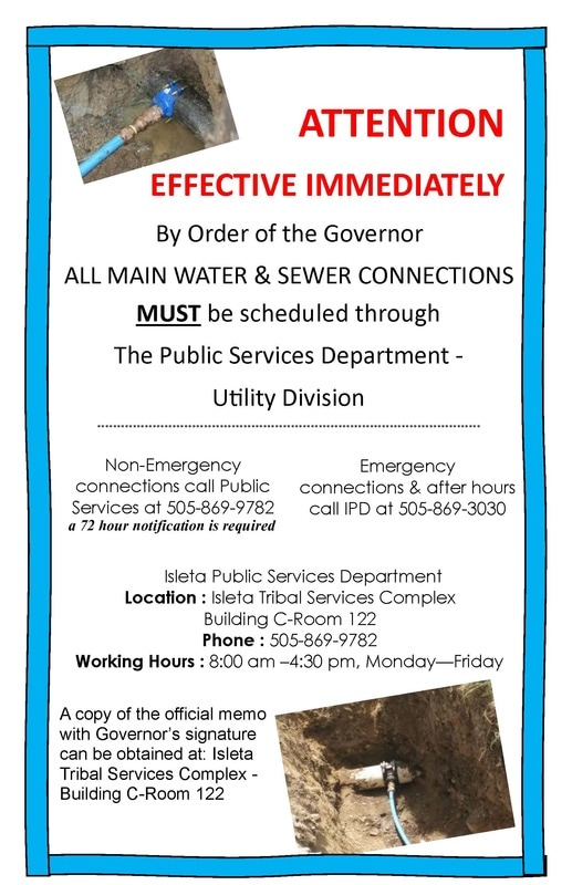 Water & Sewer Connections Notice by Utility Division