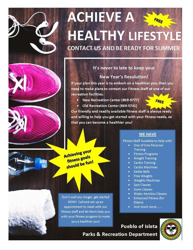 Recreation Healthy Lifestyle Flyer
