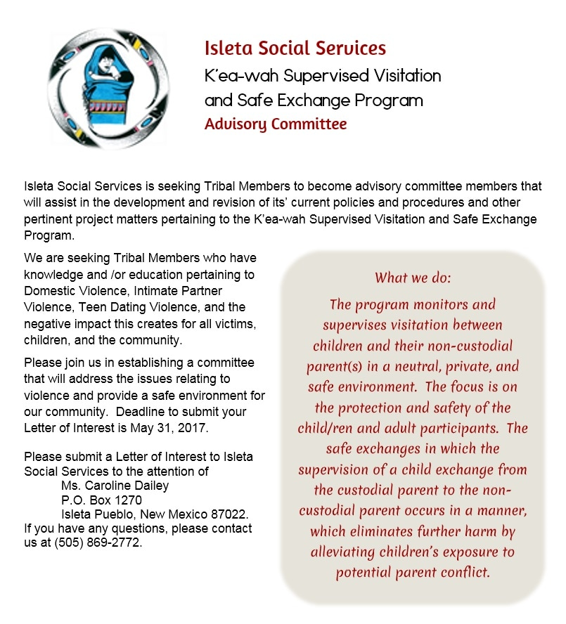 Advisory Committee Members Flyer