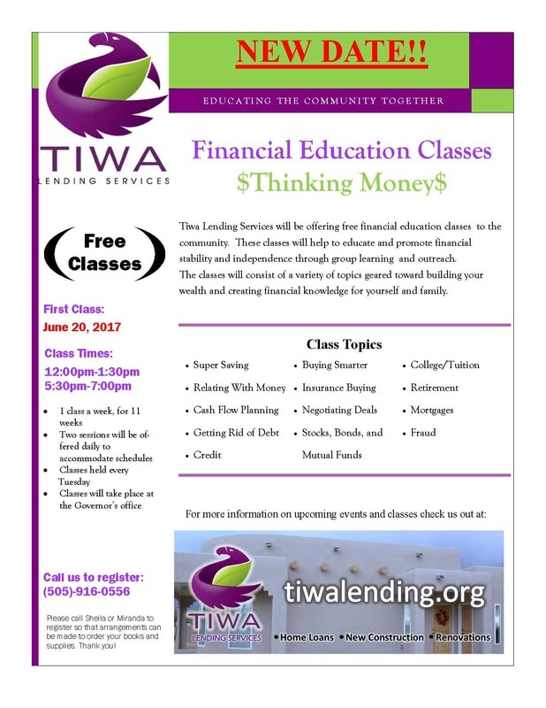 TIWA Lending Financial Education Classes